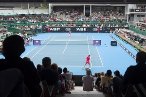 The opening day of the ASB Classic at the ASB Tennis Centre in Auckland drew an enthusiastic crowd of supporters. Photo / Natalie Slade