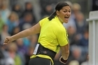 Valerie Adams of New Zealand reacts after a throw in the shot put. Photo / Getty Images