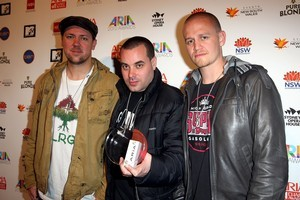 Australian hip hop outfit Hilltop Hoods have made it into NZ's Top 20 chart. Photo / Getty Images