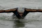 Jackson Cropp took out the 1500m ocean swim. Photo / Georgia Schofield