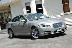 The latest Jaguar XF has been refined inside and out. Photo / Jacqui Madelin