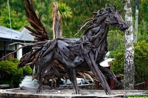Jack Marsden-Mayer's driftwood horse. Photo / Steven McNicholl