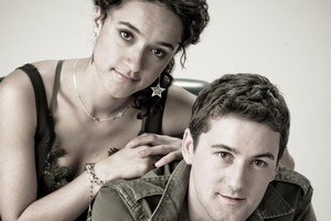 Emmett Skilton with on-screen lover Keisha Castle-Hughes. Photo / Supplied