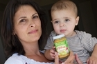 Paulette Balle says she needs to trust the foods she feeds to her 8-month-old son Sebastian. Photo / Paul Estcourt