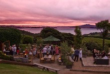 Mudbrick Vineyard capitalises on its magnificent views with an outdoor Potager Bistro. Photo / Bob Scott