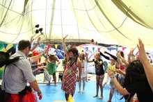 Splore, in Tapakanga Regional Park is family-friendly, with lots for the kids to get involved in. Photo / Supplied
