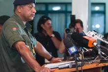 Commodore Frank Bainimarama sacked senior officers who opposed his takeover plans. Picture / Greg Bowker 