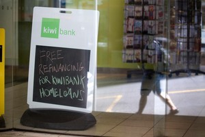 Kiwibank's loan book grew 10 per cent, and interest earnings also rose. Photo / Dean Purcell