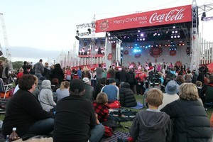 Events like Coca-Cola Christmas in the Park are waiting anxiously for word that Auckland Council will keep the sponsorships. Photo / APN
