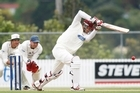 Northern Knights Joseph Yovich bats against AUckland. Photo / APN