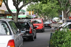 Market share: Motorists and pedestrians at Frankton Markets will share Commerce St, Frankton. Photo / Supplied
