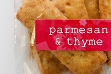 Parmesan and thyme crackers from Bridget's Biscuits. Photo / Natalie Slade