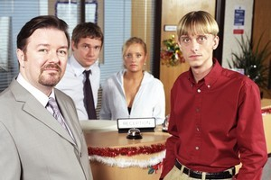 Mackenzie Crook's (right) popularity blossomed as the gormless Gareth in The Office. Photo / Supplied