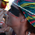 A woman gets her face painted at Splore. Photo / Supplied