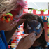 A child gets their face painted at Splore. Photo / Supplied