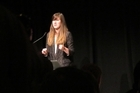 Jessica Hische speaking at Webstock. Photo / Mark Webster