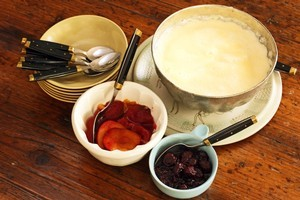 Griesmeel pudding can be set in a mould or served as is. Photo / Janna Dixon