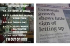 A shop window in Christchurch (left), and an Irish newspaper (right). Photos / Supplied