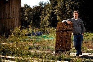 Escargot farmer Cyril Santos photographed at his snail farm just outside the town of Uzes in the south of France. Photo / Babiche Martens