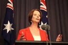 Polls suggest Australians prefer Kevin Rudd to Julia Gillard (pictured), and possibly to Opposition leader Tony Abbott as well. Photo / Getty Images