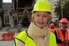 Australian Governor-General Quentin Bryce in Cathedral Square today. Photo / Getty Images