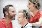 Markus Hofko aka Rainbowmonkey (left) with Matt Paul and Eammon Logan. Photo / Ted Baghurst