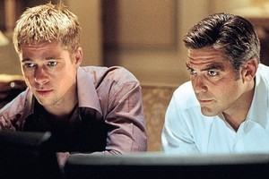 Heists, such as one featured in Ocean's Eleven starring Brad Pitt (left) and George Clooney, could become more common. Photo / Supplied