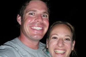 Bravery medal winner Gavin Bonner with wife Alana Perrin.