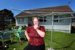Glenda Connon at home in Glen Innes, Auckland. She is to be evicted from her state house after living there for 26 years. Photo / Doug Sherring
