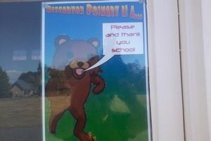Pedobear poster. Photo / gpforums.co.nz