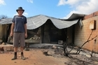 Tim Moore lost all of his possessions in the fires near Margaret River in Western Australia last spring. Picture / Kathy Marks