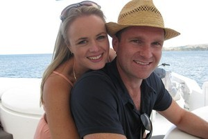 Taryn Bax, sister of Kylie bax, with husband Matthew Welch. Photo / Supplied