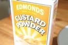 Edmonds Custard Powder.The famous Edmonds brand is part of the Goodman Fielder stable. Its shares shot up this morning after news that Wilmar International is trying to build a 10pc stake. Photo / Herald on Sunday