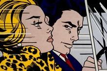 'In the Car' (1963) by Roy Lichtenstein. Photo / Supplied