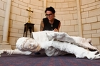 Sculptor Nirmala Cooper's controversial statue of fallen angel Gadreel  will lie at St Matthew-in-the-City church during Lent in the hope of encouraging 'the fallen' back. Photo / Paul Estcourt