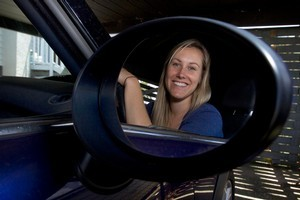 APNZ reporter Hayley Hannan sat the new and harder driving test. She passed it, but only just. Photo / Brett Phibbs