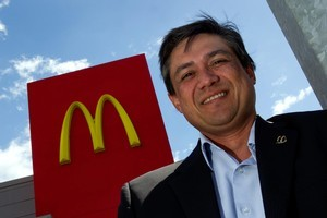 Patrick Wilson, managing director of McDonald's NZ, started working for the company at 18, 'flipping burgers'. Photo / Martin Sykes