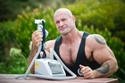 Justin Rys with his sleep apnoea machine. Photo / Getty Images