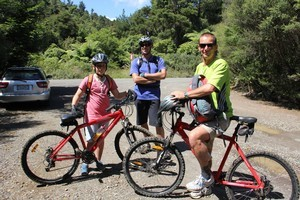 All set to hit the Kauaeranga Valley's cycle trails. Photo / Supplied