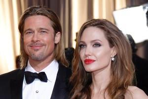 Brad Pitt and Angelina Jolie. Photo / AP
