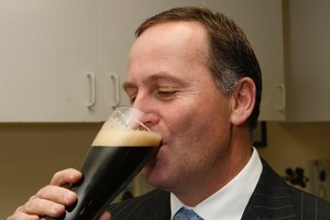 The number of voters who say they want to have a beer with John Key may soon plummet. Photo / Mark Mitchell