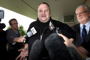 Megaupload millionaire Kim Dotcom's release on bail has been upheld. Photo / Brett Phibbs