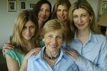 Maria Collins with daughters (from left) Adrienne, Elizabeth, Kathryn and Pip. Picture / Glenn Jeffrey 