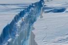 The virtual map of the Pine Island Glacier crack. Photo / NASA