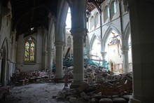 The wrecked interior of the Christchurch Cathedral. Photo / Supplied
