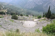 The Pythian Games theatre at Delphi, Greece. Photo / Jim Eagles