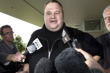 Kim Dotcom has fronted to the media for the first time. Photo / Brett Phibbs
