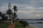 Galle's lighthouse and the Dutch ramparts. Photo / Jill Worrall