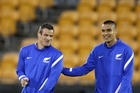 All Whites captain Ryan Nelsen (left) and Winston Reid prepare to take on one of the fastest teams in soccer. Photo / Richard Robinson