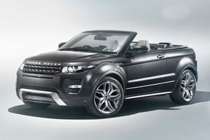 The Evoque coupe-based convertible concept will be unveiled at the Geneva Motor Show. Photo / Supplied